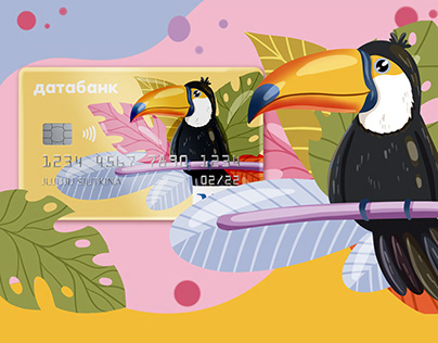 Illustrations for the design of payment cards
