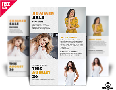 Summer Sale Flyer PSD