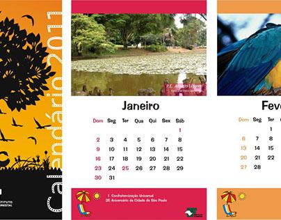 Calendário de mesa do Instituto Florestal