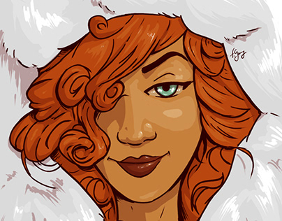 Red Hair Black Woman
