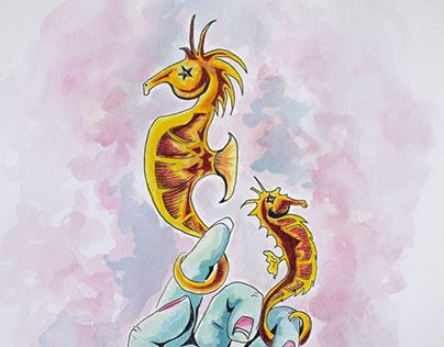 Seahorse Hand