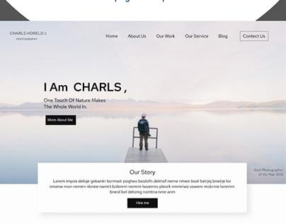 PHOROGRAPHER PORTFOLIO WEB DESIGN CONCEPT