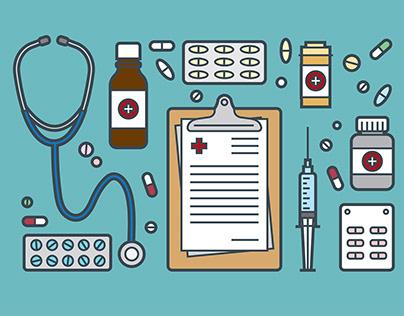 Medical and Prescription Pad Icon Vector