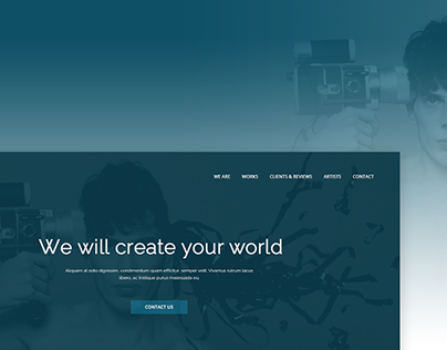 Landing page for Photo agency