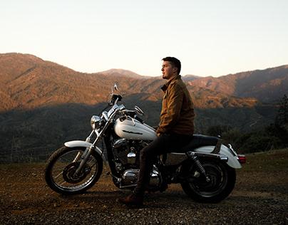 Luke and His Harley