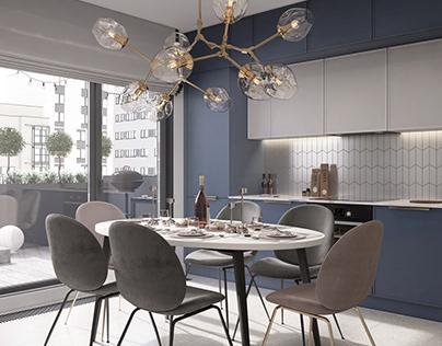 Дизайн проект квартиры 102 м2 в Новой Боровой