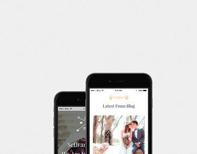 Wedding WordPress Theme iPhone View