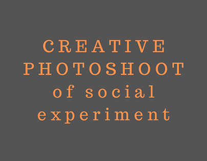 CREATIVE PHOTOSHOT of social experiment