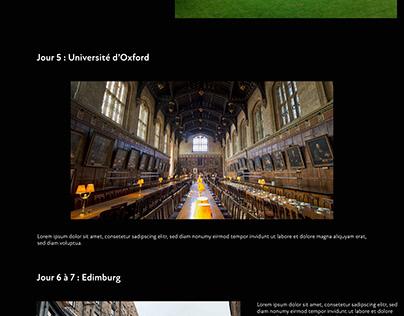 Web design voyage de notre choix - école