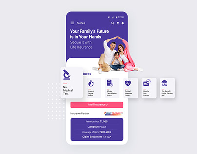 UI/UX for Life Insurance product page