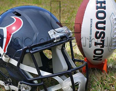PHOTOGRAPHY - Houston Texans, helmet, football field