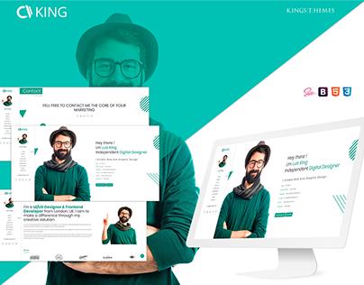 King - vCard / CV / Resume / Portfolio Landing Page