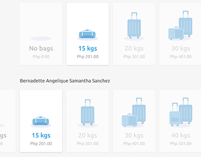 Add Baggage Slider Kiosk