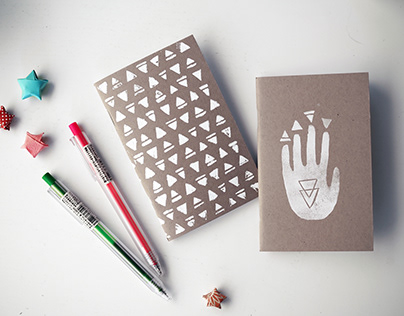 Hand stamped notebooks