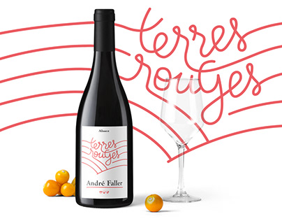 Wine label - Terres rouges - Alsace