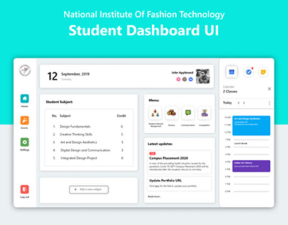Student Dashboard UI | NIFT CMS
