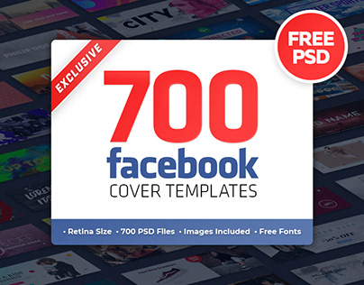 FREE 700 Facebook Cover Templates PSD Timeline Banners