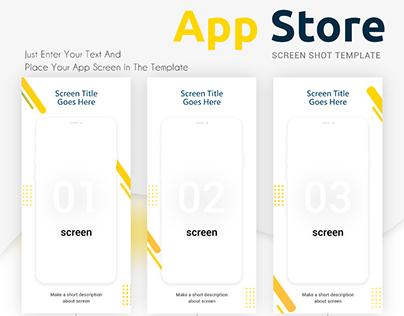 App store screen shot templates