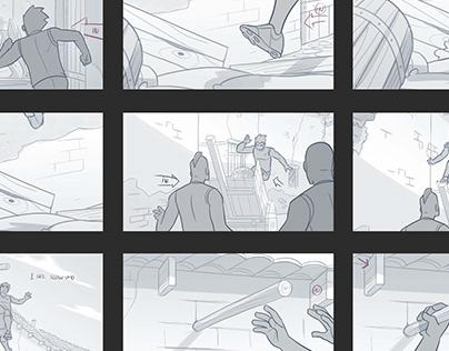 Supastrikas Storyboards