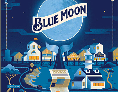 Blue Moon Beer Posters