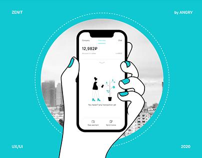 Zenit Bank App by ANGRY | Приложение банка Зенит