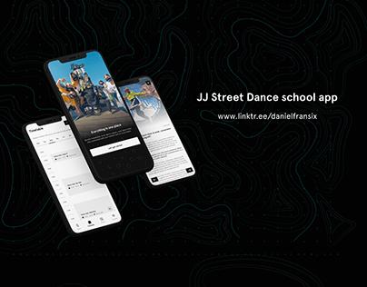 JJstreet dance app ui/ux design