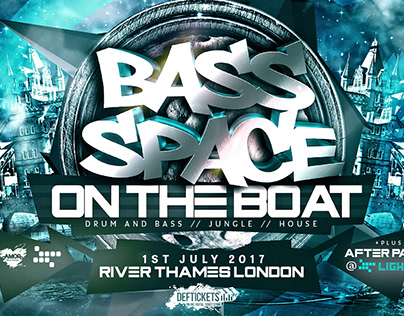 Space Bass: On the Boat - Event Artwork