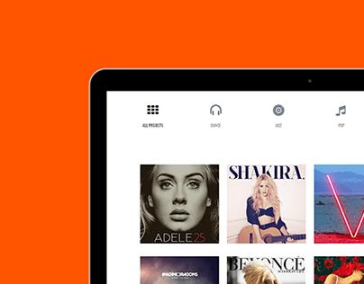Music WordPress Theme - Tablet View