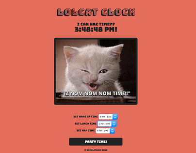 JavaScript project: lolcat clock