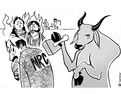 Cartoon for Opinion page , The daily Janakantha .