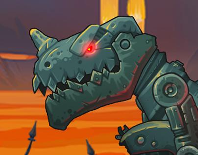 Steamosaur animation