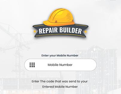 Repair Builder App Design