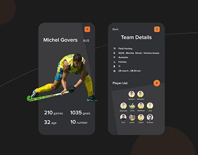 Sports App Design