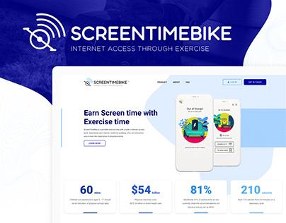 ScreenTimeBike Website Design