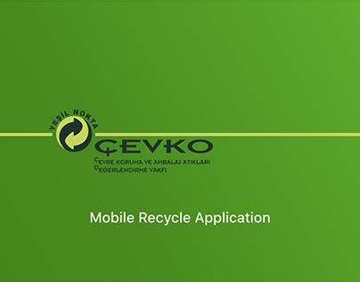 Çevko Recycle Mobile Application