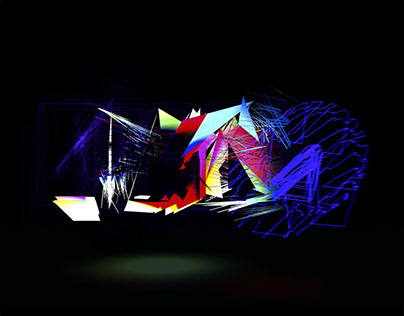 Piano. Interactive, audio-reactive 3D typography
