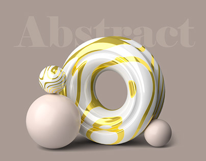 Abstract 3D illustrations