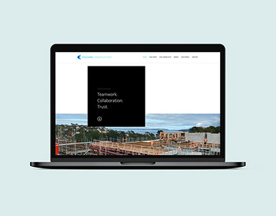 Modern Website Design for a Construction Business