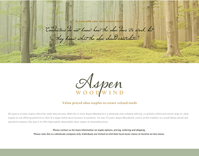 Website for Aspen Woodwind Oboe Staples