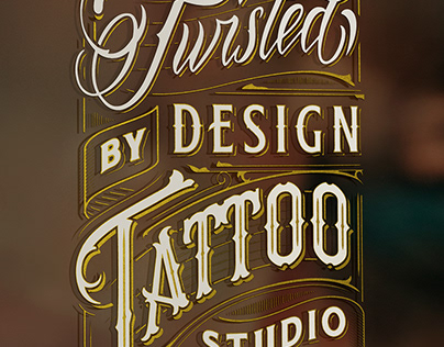Twisted By Design Tattoo Studio Signage