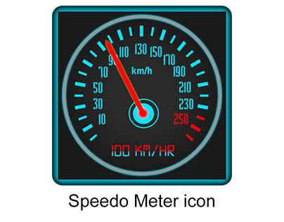 Speedo Meter icon Design