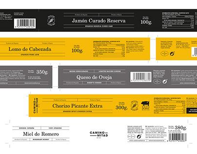 Camino Mitad packaging design