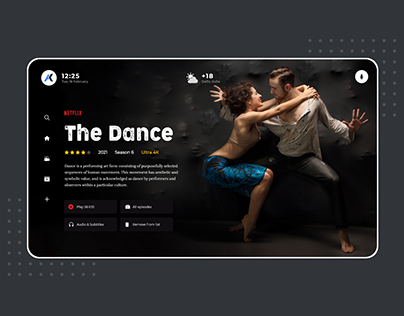 UI Concept for Online Web Series