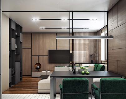 Small apartment W/G/B