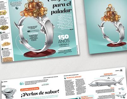 Food illustrations . Pimienta