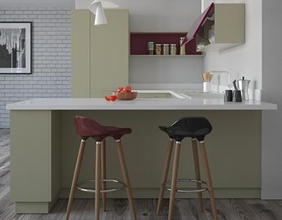 visualization of the kitchen Elnova