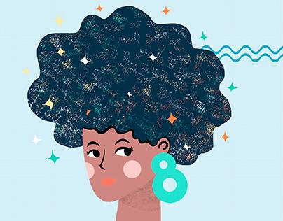 Ilustração - Dia da Mulher - uso em Mídias Sociais