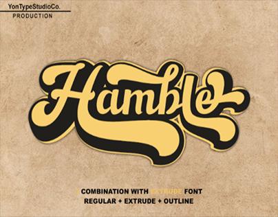Hamble font