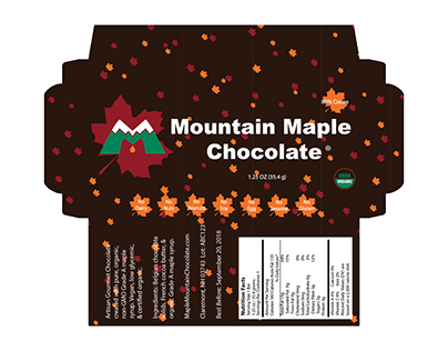 Mountain Maple Chocolate Logo, Branding & Packaging