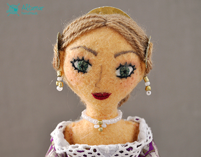 Mandarina. Handmade Doll